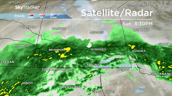 Rainfall warnings in effect.