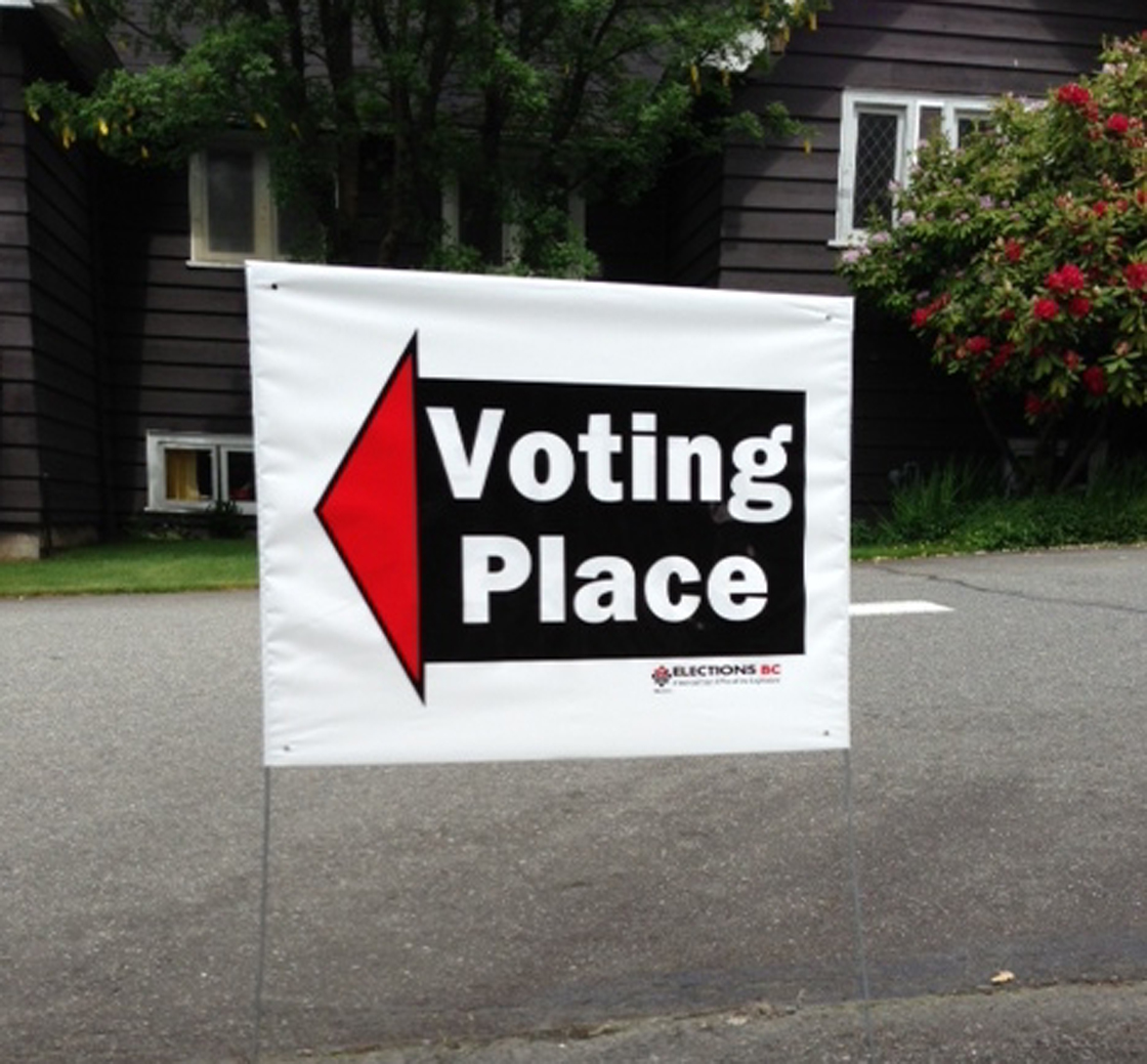 Voting place.