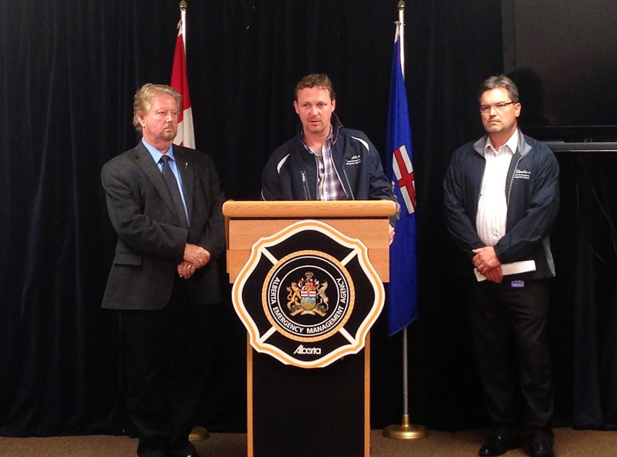 Municipal Affairs Minister Doug Griffiths at news conference on flooding, June 20, 2013.
