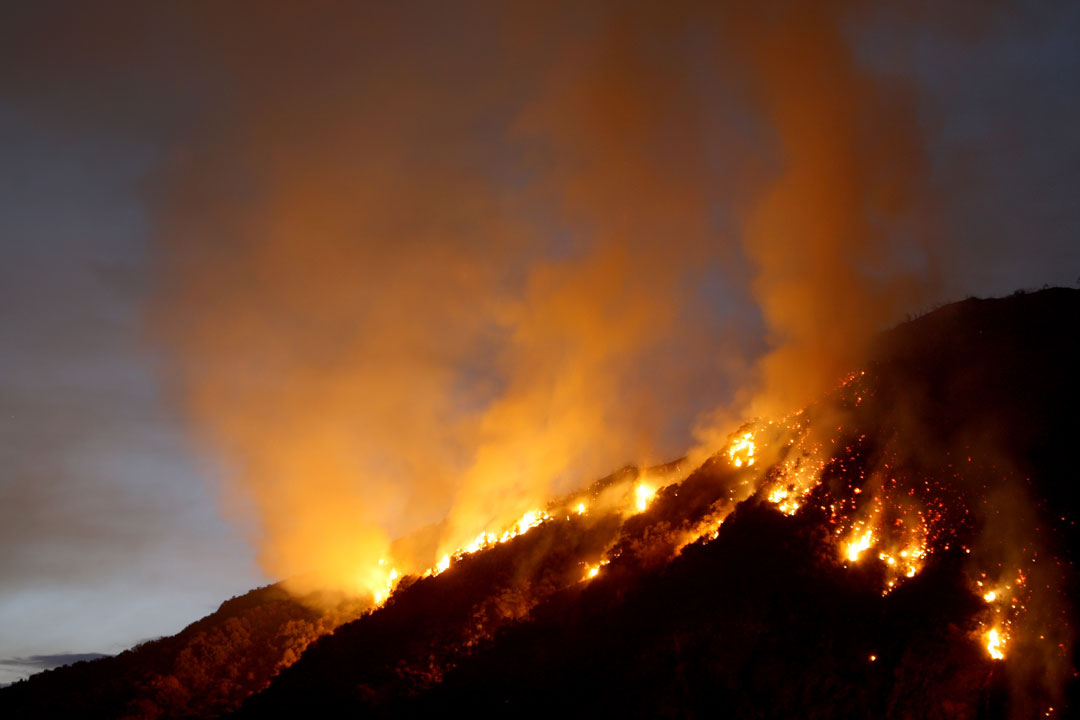 Several fires spread across the U.S. due to the drought in 2012.