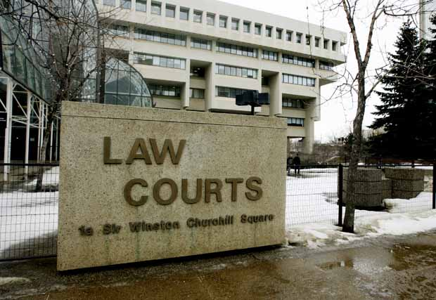 The Law Courts in downtown Edmonton.