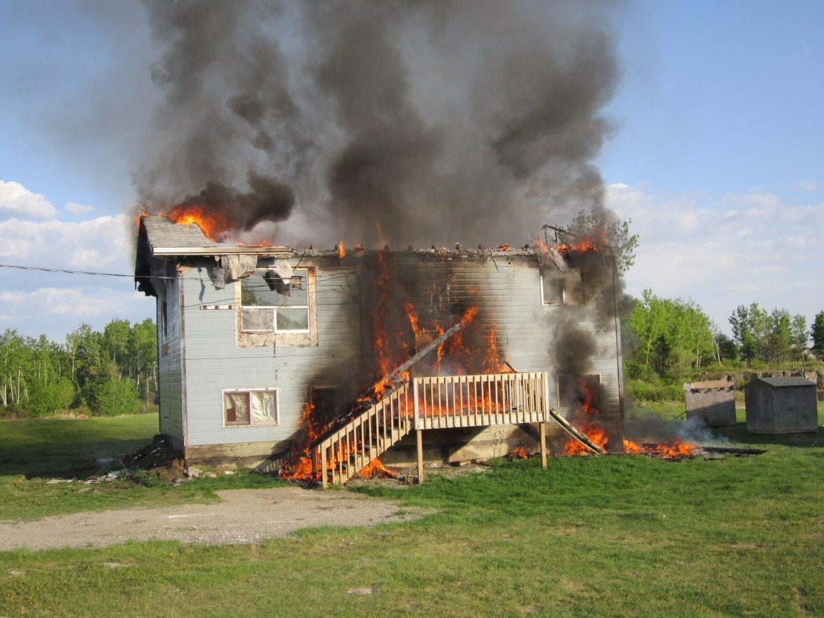 Bloodvein First Nation Manitoba fire