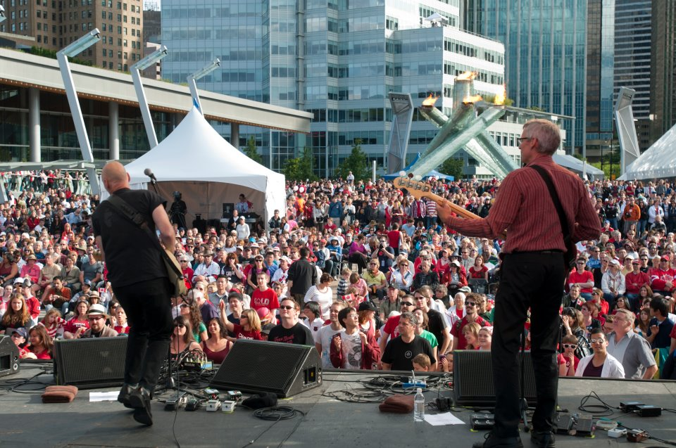 Huge crowds gathered at Jack Poole Plaza in 2012 for the Canada Day celebrations.