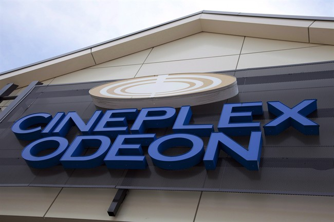 A Cineplex Odeon is pictured in North Vancouver, on May 15, 2012.