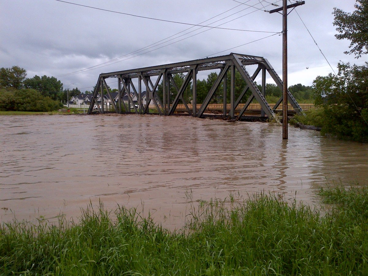 Flooding in High River, June 20, 2013.