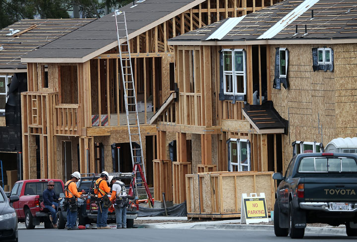 Canada Mortgage and Housing Corp., says the pace of housing starts picked up in May, led by an increase in multiple-unit starts.