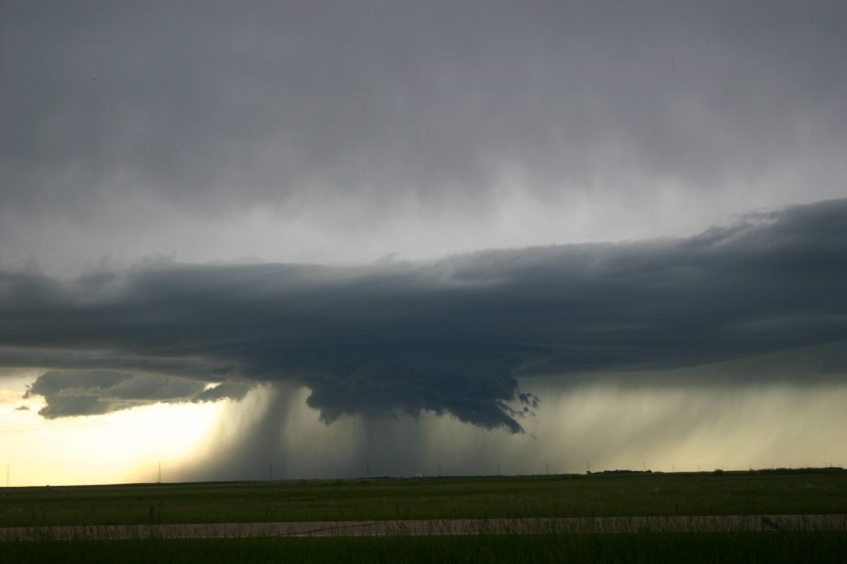 A small mesocyclone about 5km north of Duchess, Alberta.