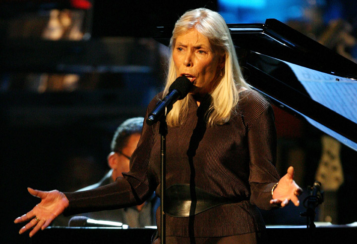 Joni Mitchell, pictured in 2007.