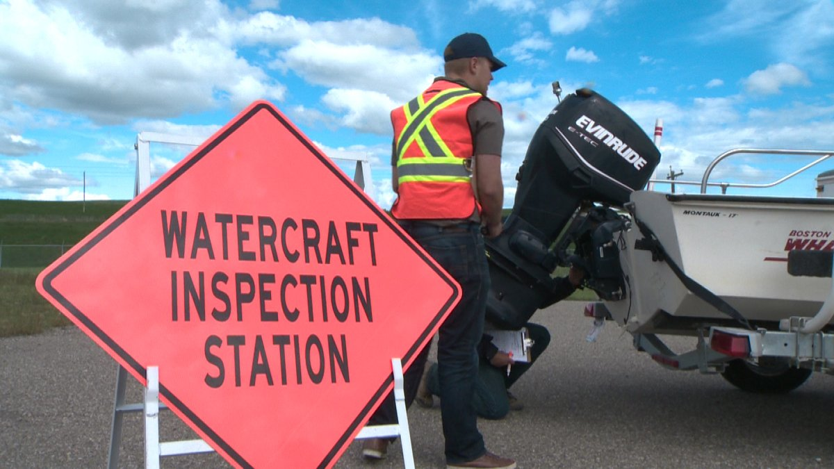 Government officials demonstrated a new boat inspection program near Pincher Creek.