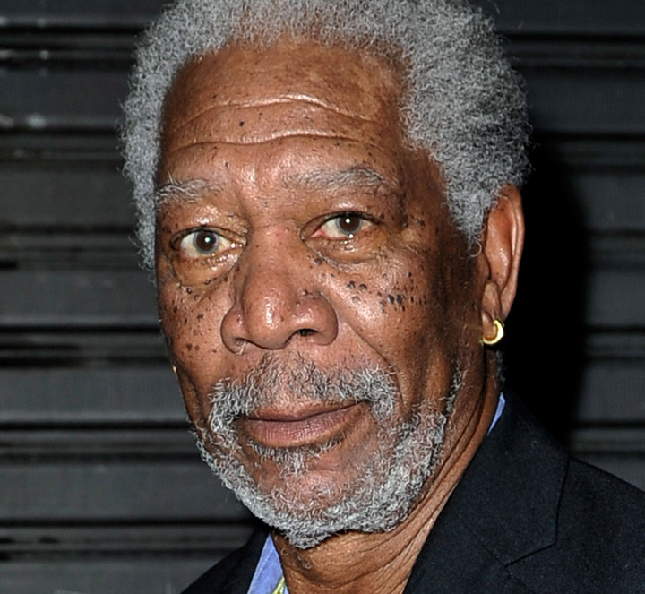 Morgan Freeman played Nelson Mandela in 2009's 'Invictus.'.