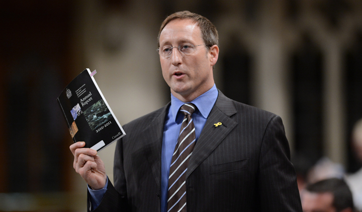 Minister of Defence Peter MacKay responds to a question during question period in the House of Commons on Parliament Hill in Ottawa on Monday, June 10, 2013.