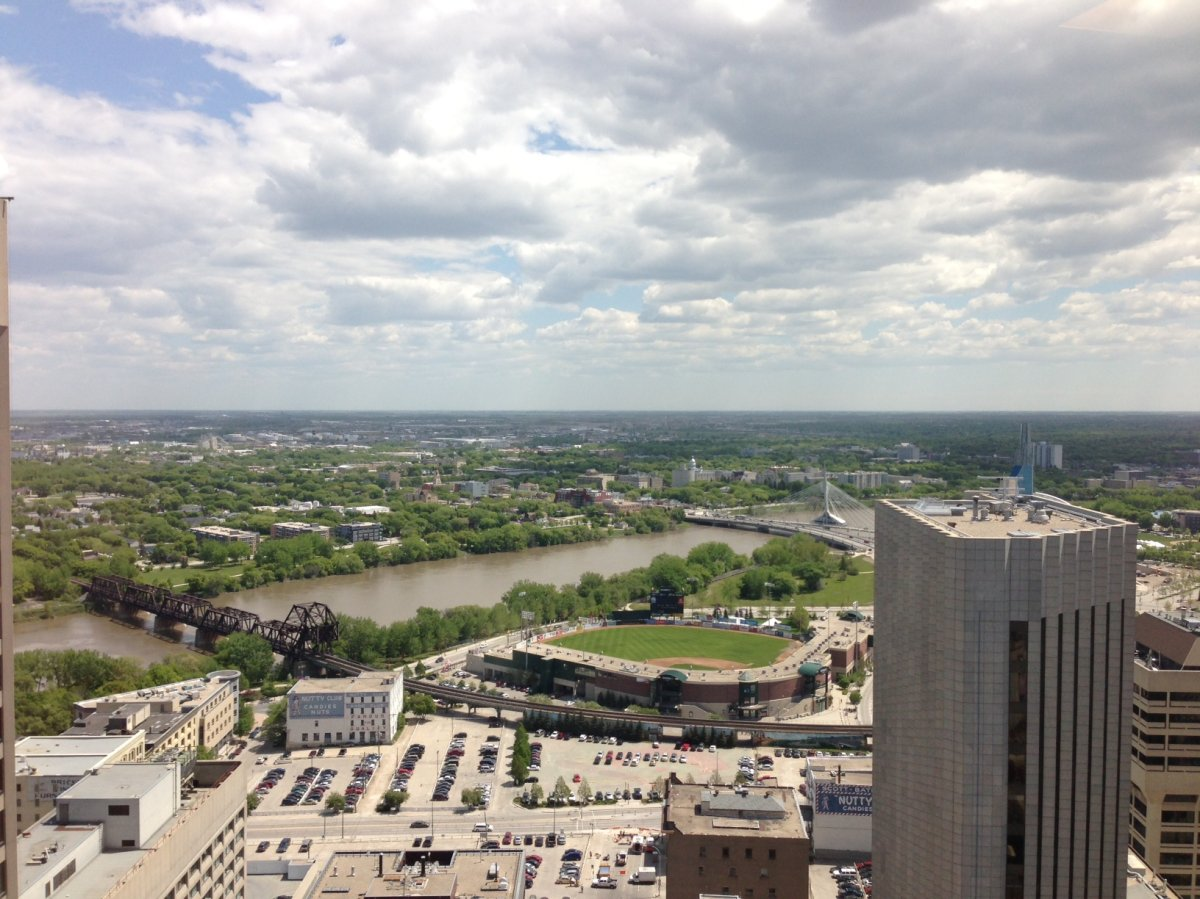 Sunshine now, but clouds on the way. Winnipeg, June 5, 2013.