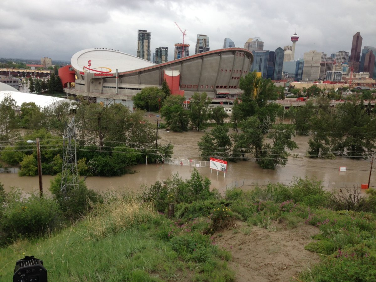 Saddledome flooding in Calgary, 2013.