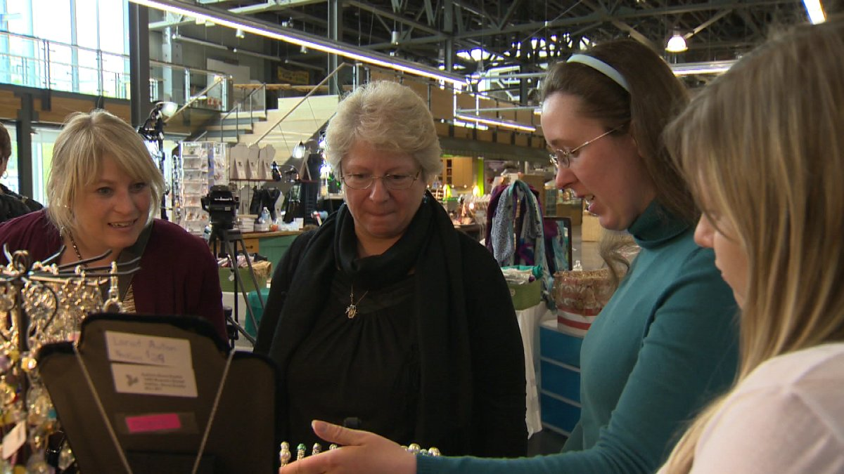 Victoria Cutler, 25, has autism and hopes the exposure of the farmers market better prepares her for a real job.