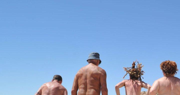 Beach group nude Woman Filmed