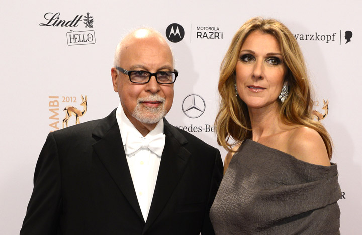 René Angélil and Celine Dion, pictured in 2012.