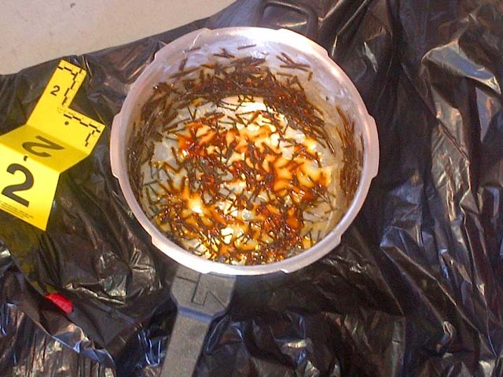 One of the pressure cooker-type bombs seized by RCMP.