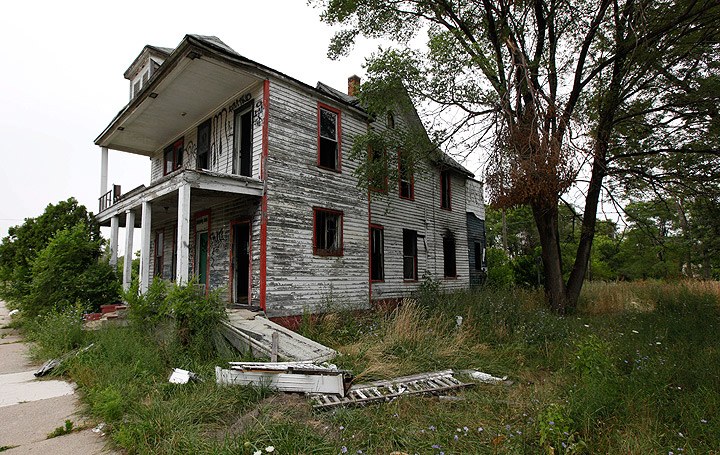 A vacant home is shown in Detroit, Wednesday, July 27, 2011.