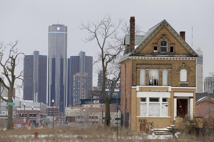 The General Motors (GM) world headquarters is seen February 24, 2013 in Detroit, Michigan.