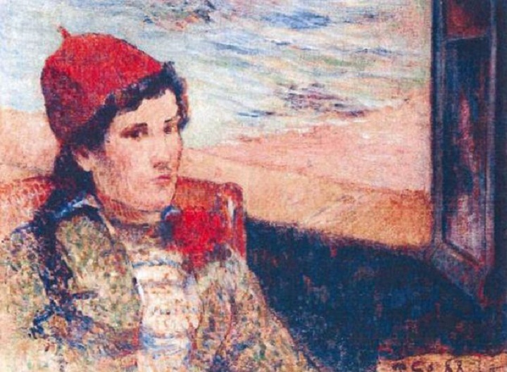 "Paul Gauguin's 1898 ""Girl in Front of Open Window"" on of seven paintings stolen last year from the Netherlands."