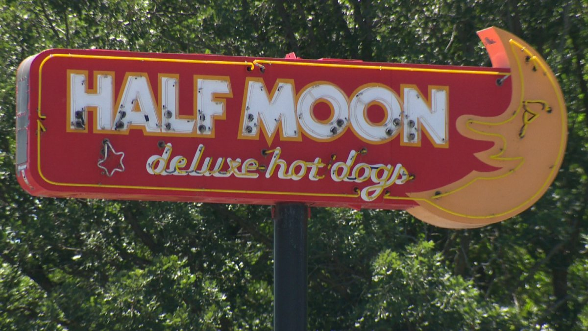 The Half Moon Drive In.