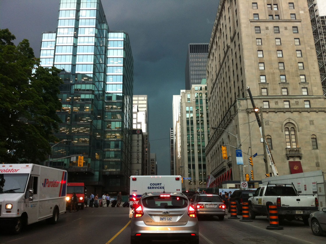 Environment Canada answers the question: Where was Toronto ...