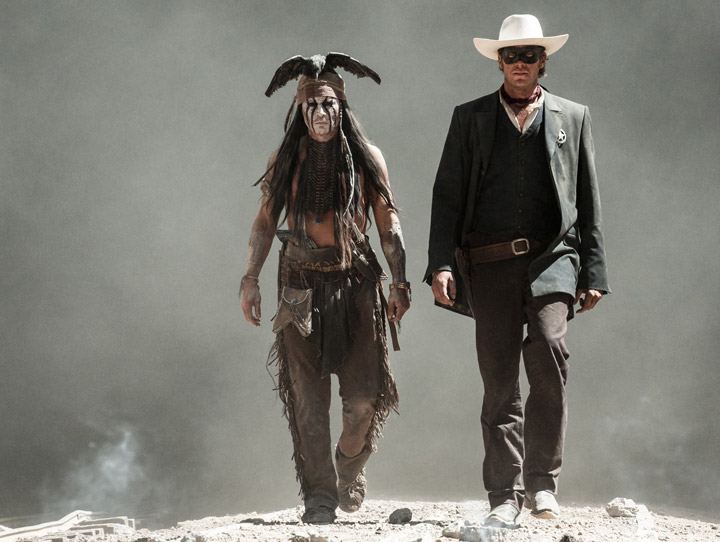 Johnny Depp and Armie Hammer star in the reboot of 'The Lone Ranger.'.