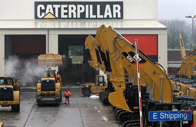 FILE - This Thursday, Feb. 28, 2013, file photo shows a parking lot at Caterpillar Belgium, in Gosselies, Belgium.