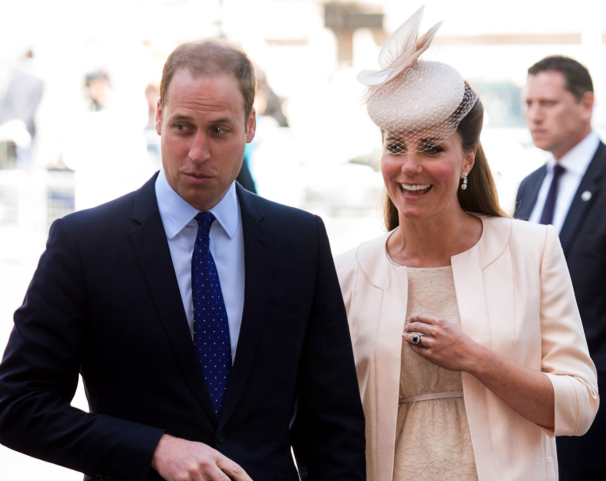 File photo: Prince William, Duke of Cambridge and Catherine, Duchess of Cambridge attend service marking the 60th anniversary of the Queen's coronation at Westminster Abbey on June 4, 2013 in London, England.