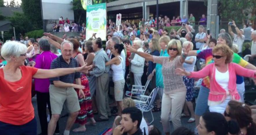 Seniors' flash mob.