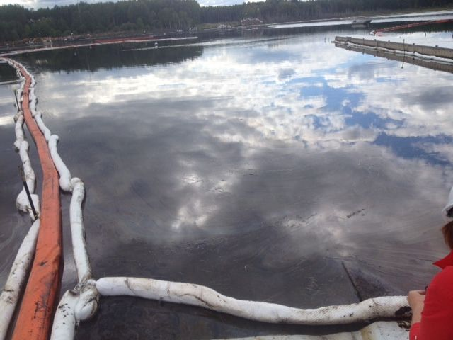 Canadian Natural Resources, Ltd. provides media access to spills at its Primrose site near the Cold Lake Air Weapons Range in northeast Alberta. August 8, 2013.