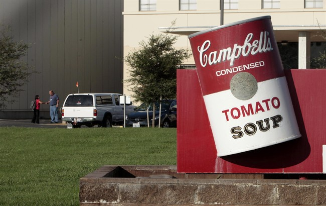 This Sept. 27, 2012 photo shows a Campbell Soup Co. factory in Sacromento, Calif.