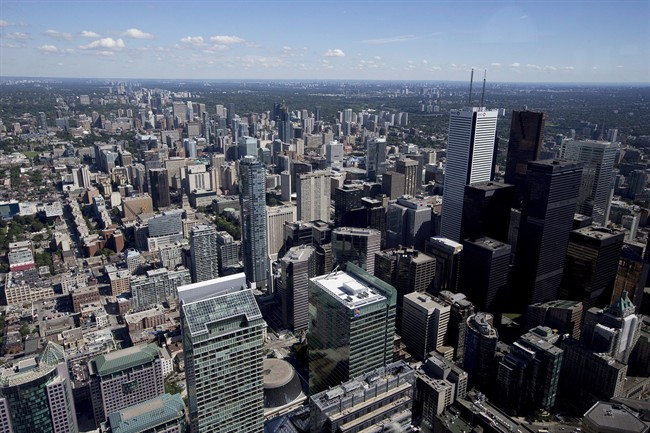 Toronto's financial district is pictured on Friday, July 26, 2013. THE CANADIAN PRESS/Michelle Siu.
