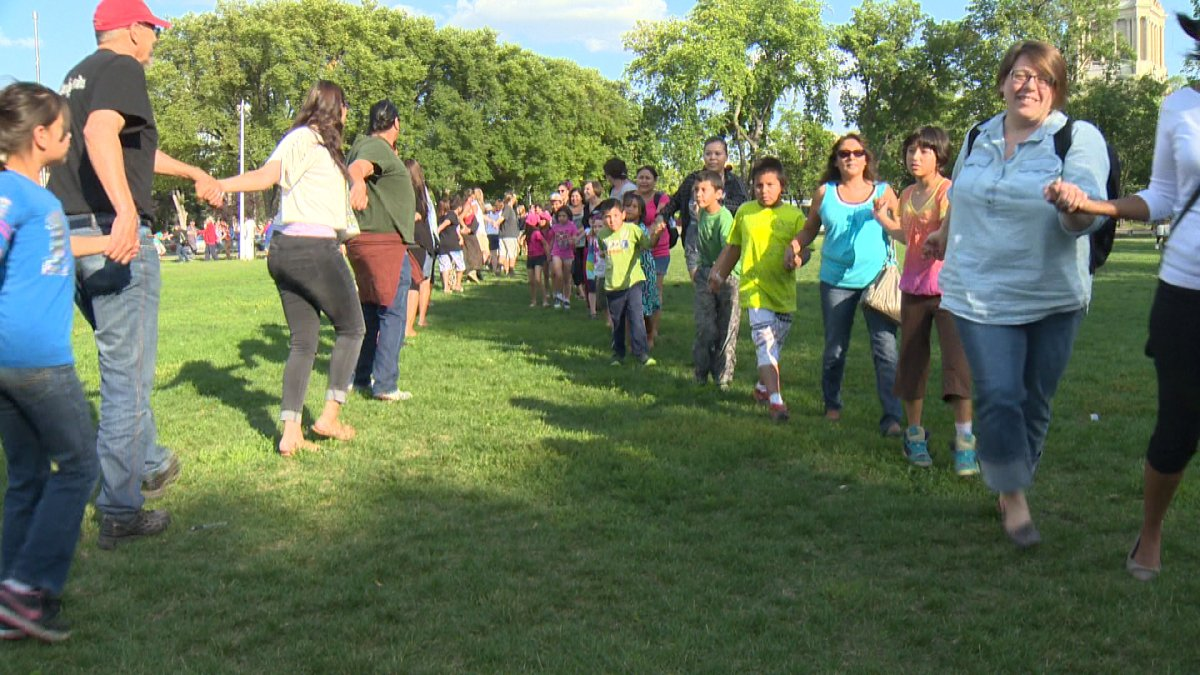 """On Wednesday, nearly 150 activists took over Memorial Park for the weekly """"Water Wednesday"""" meeting, which focuses on Canada's water resources."""