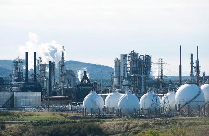 The Irving Oil refinery in Saint John, N.B. is shown on September 27, 2012.