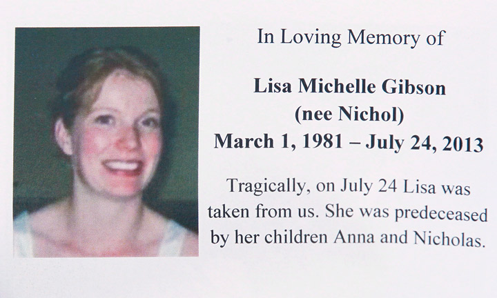 Lisa Gibson was suffering from depression when she killed her children and herself on July 24, 2013, in Winnipeg.