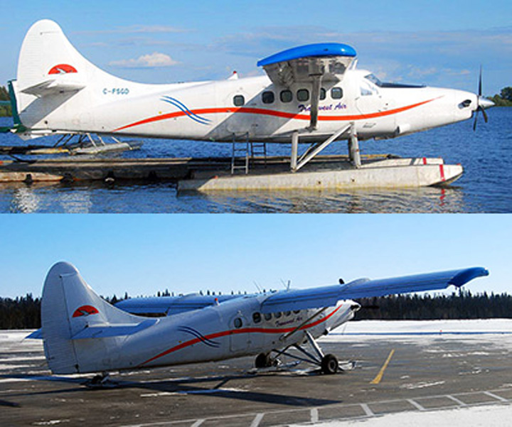Pilot presumed dead after Transwest plane found partially submerged in a Northwest Territories lake.
