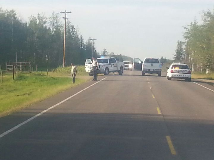 An RCMP officer is in hospital after an altercation during a traffic stop along a northwestern Alberta highway Wednesday afternoon.
