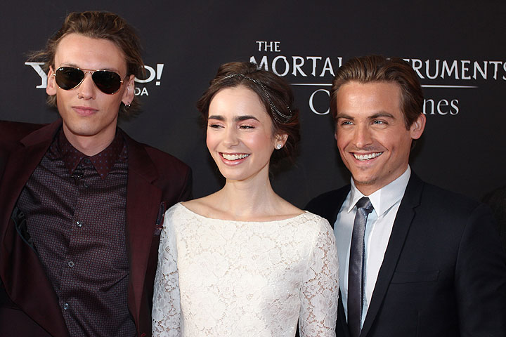 Jamie Campbell Bower, Lily Collins and Kevin Zegers in Toronto.