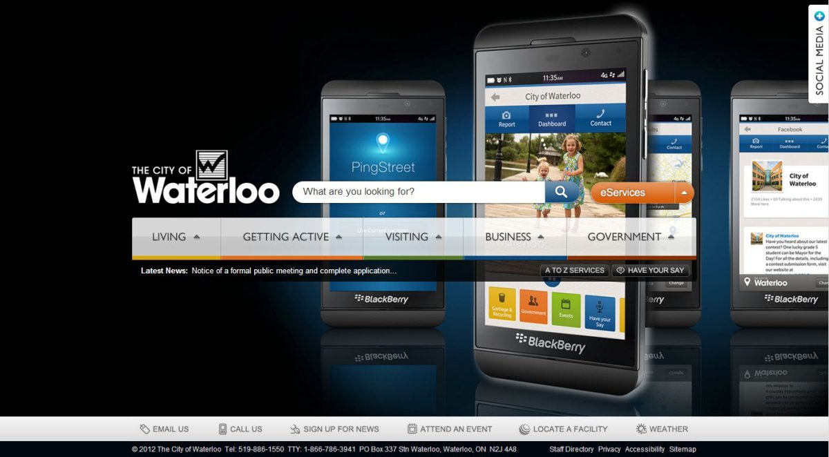 A screengrab from waterloo.ca.