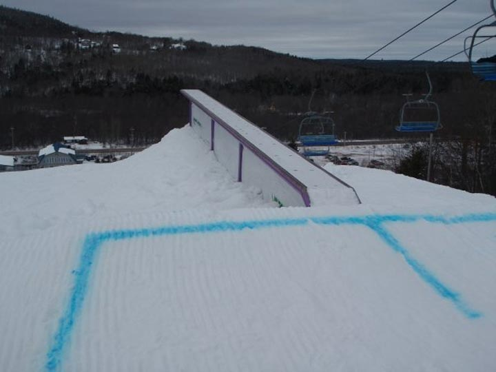 A rail within the Ski Wentworth terrain park in 2010.