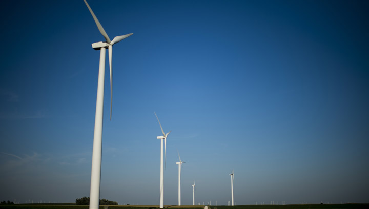 File photo of a wind farm.