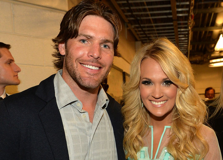 Mike Fisher and Carrie Underwood, pictured in June 2013.