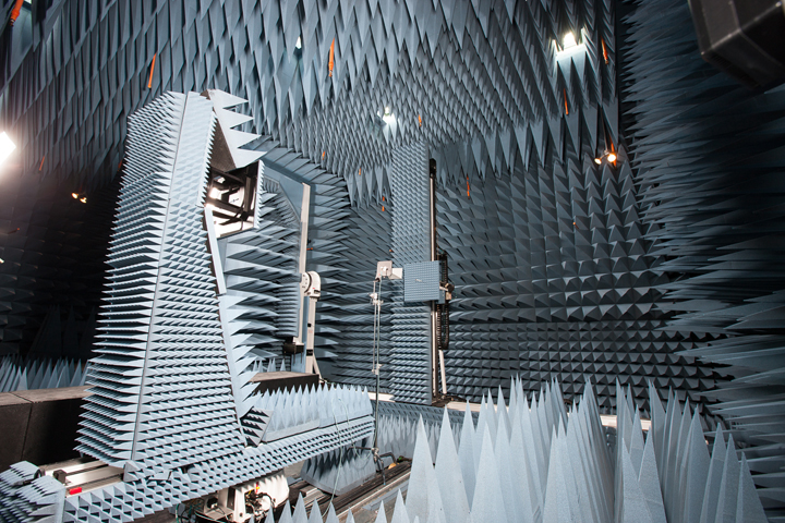 CIARS features a unique anechoic chamber, designed to completely absorb reflections of sound and electromagnetic waves.
