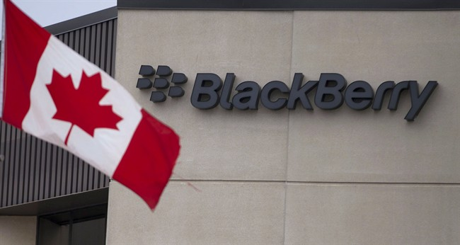A Canadian flag flies at BlackBerry's headquarters in Waterloo, Ont., Tuesday, July 9, 2013. Fairfax Financial Holdings has offered to buy BlackBerry Ltd. Toronto-based Fairfax is offering US$9 cash for each share it doesn't already own, in a deal that values BlacKBerry at about US$4.7 billion.