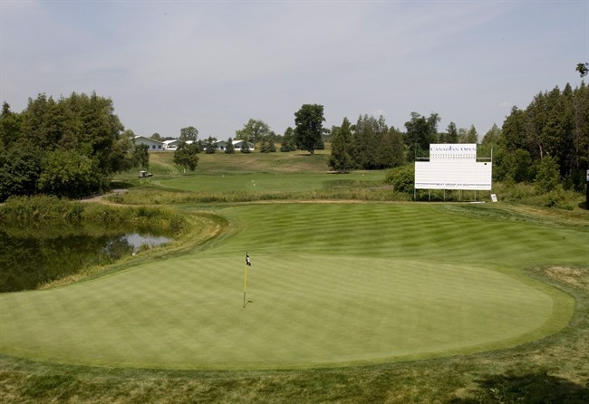 The 18th hole on the south course at Angus Glen Golf Club is shown in Markham, Ont., Tuesday July 17, 2007.