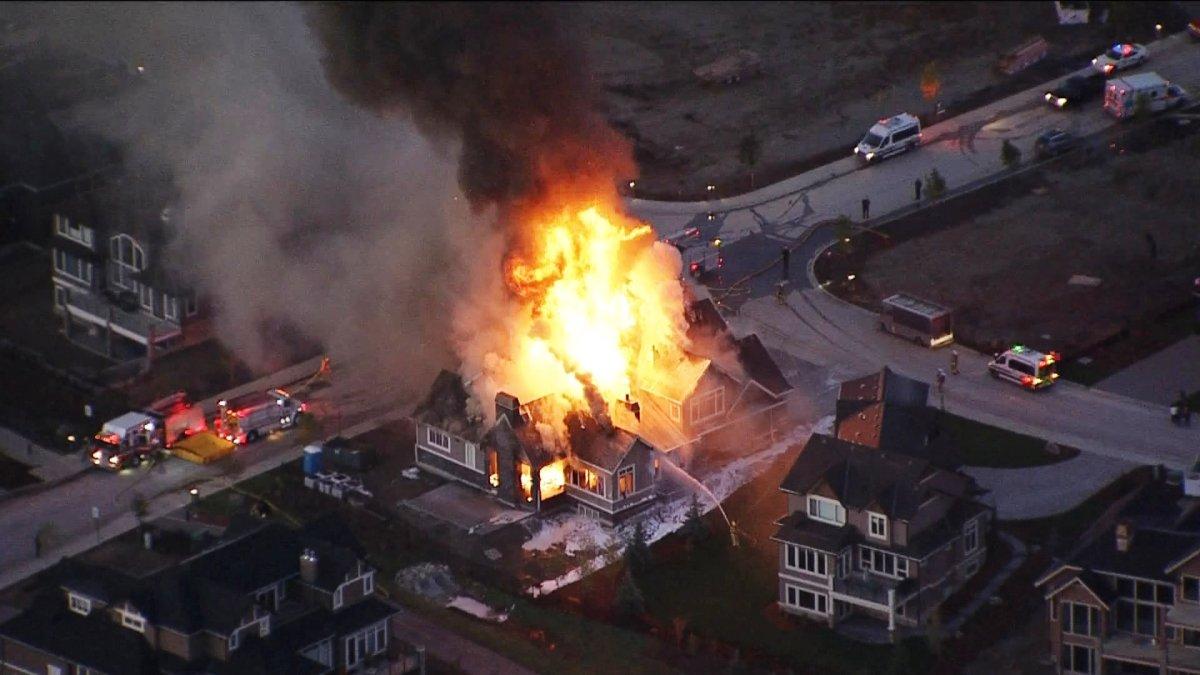 Crews battle a fire in the 200 block of Waterside Court.