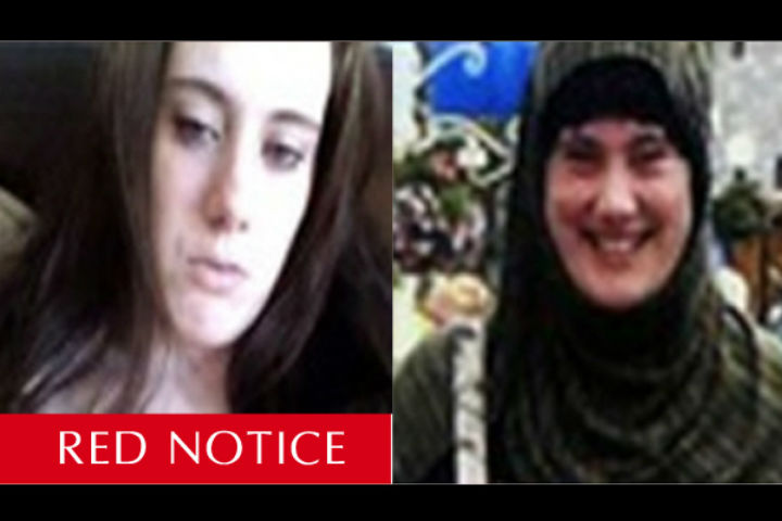 """Samantha Lewthwaite known as the """"white widow"""" became radicalized, moving from mainstream Islam to a """"holy war"""" against the West. (Photo: Handout/Interpol)."""