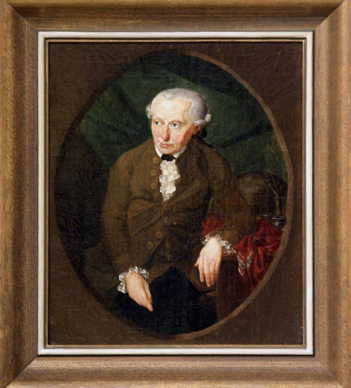 A painting dated 1791 by Gottlieb Doebler shows philosopher Immanuel Kant, is seen 11 February 2004 in an exhibition about Kant (1724-1804) at the historical museum of Duisburg, scheduled from 12 February to 31 October 2004, on the occasion of the 200th anniversary of the death of the German philosopher.