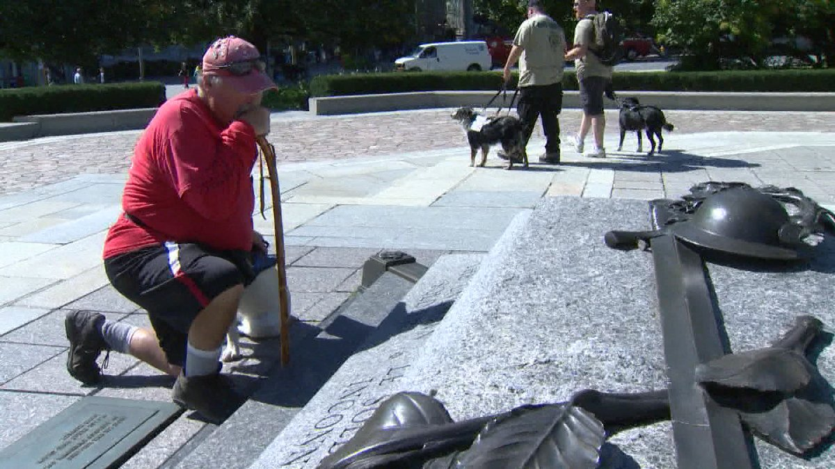 It has been a long journey but an Eastern Passage man has finished a 50 day walk to Ottawa.